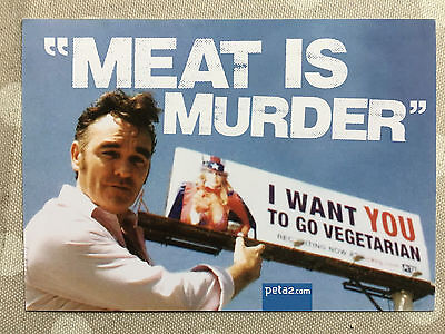 Morrissey tour - Meat is Murder postcard / Flyer - The Smiths New and Official