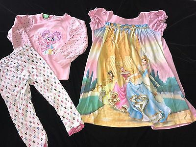 3 pc GIRLS TODDLER size 2T 3T ABBY CADABBY PAJAMA SHIRT TOPS NIGHTGOWN SLEEPWEAR