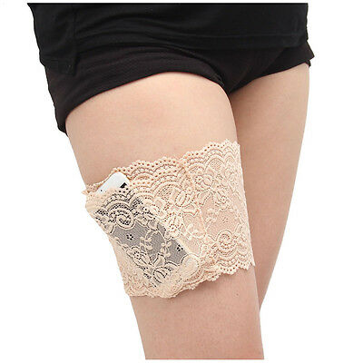 F66 Women Lace Pocket Elastic Anti-Chafing Thigh Bands Prevent Thigh Chafing Soc