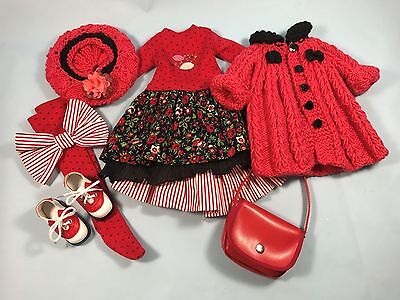 Beautiful Red And Black 8 Piece Outfit For Kaye Wiggs Msd Dolls By Barbara Zucho
