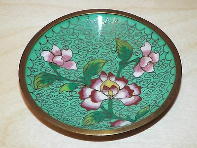 Lovely little 9.5 cm diameter cloisonne pin dish