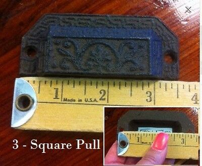 Cast Iron Drawer Pull - Square style - oil rubbed look