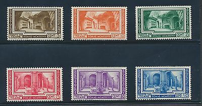 Vatican 55-60 1938 Christian Archaeological Conference NH set cat. value $200