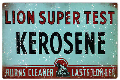 Lion Kerosene Gas And Oil Station Reproduction Metal Sign