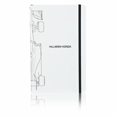McLaren Honda Official Racing Fans White Page Hard Covers Writing Notebook Gift