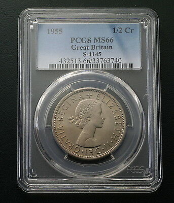 Great Britain 1955 Half Crown PCGS MS66 Finest Known