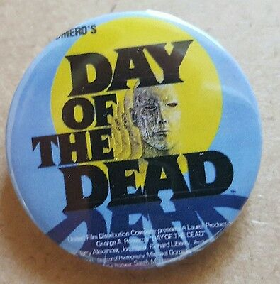 """Day of the dead badge 1.5"""" Large Size  George A Romero"""