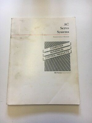 Ge Fanuc Automation Ac Servo System Maintenance Manual Ser.# Gf2-54765E