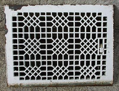 "ANTIQUE VICTORIAN CAST IRON REGISTER GRATE w/ LOUVERS 12"" X 16"""
