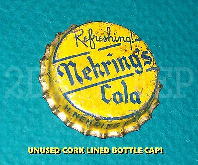 NEHRING's REFRESHING COLA FLAVORED SODA POP VINTAGE OLD CORK UNUSED BOTTLE CAP