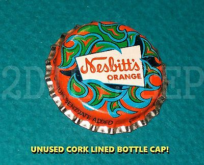 "Nesbitt Orange Flavor Soda Pop ""wild Logo"" Vintage Old Cork Unused Bottle Cap"