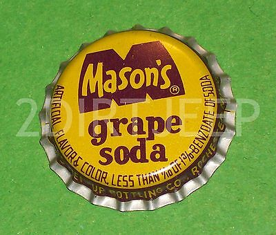 Rare Mason Grape Flavored Htf Root Beer Soda Vintage Pop Cork Unused Bottle Cap