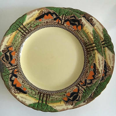 Myott Son & Co Hanley England's Countryside Dinner Entree Plates Set of Three(3)
