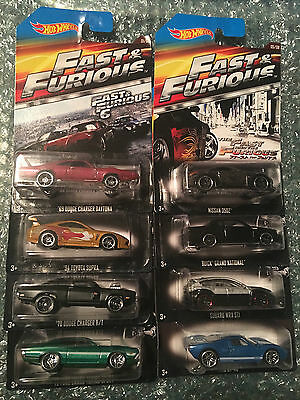 Brand New Hot wheels 2015 Fast and Furious 8 car set in Mint Condition