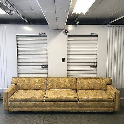 Vintage Mid-Century Floral Sofa Couch