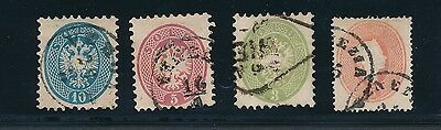Lombardy Venetia #13 & #21-23 **VERY EARLY ISSUES OF 1861-1864**; CV $94