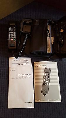 Vintage 1990's Motorola Cellular Phone and Carry Case - Mint Condition!