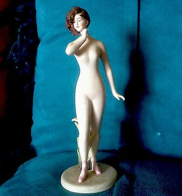 Rare Antique GALLUBA HOFMANN BATHING BEAUTY NUDE FIGURINE*German Bisque Woman
