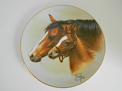 """Fred Stone """"Tranquility"""" Collector Plate Mare & Foal American Artists EUC"""