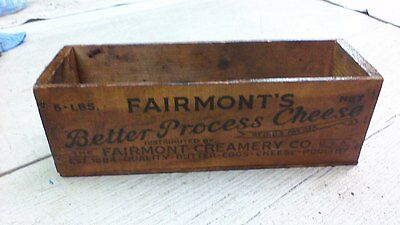 Vintage wood Fairmont's CHEESE CRATE WOODEN BOX