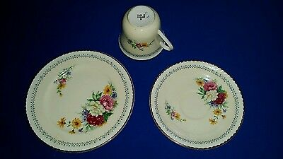 Portland Pottery Ltd. Cup, Saucer & Plate. (1946-1953)  Made in England.