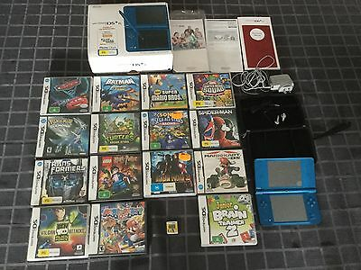 Nintendo DSi XL Blue Handheld System with games