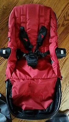 baby jogger city select second seat kit red /black frame w/second seat adapters