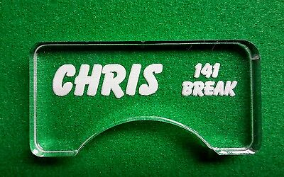 Snooker Ball Position Marker, Personalised With Your Text