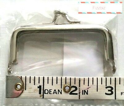 3 inch/7cm Small square glue in purse/coin  frame with pinch kiss clasp