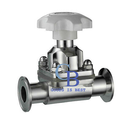 """1-1/4"""" Sanitary Stainless Steel 316 Tri-Clamp OD 50.5mm Diaphragm Valve Silicone"""