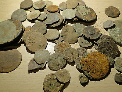 Huge Job Lot of uncleaned Roman Coins found in France by Metal Detectorist