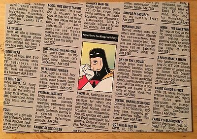 """Space Ghost Coast-to-Coast """"Personals Ad"""" promo postcard (1997) Tower Records"""