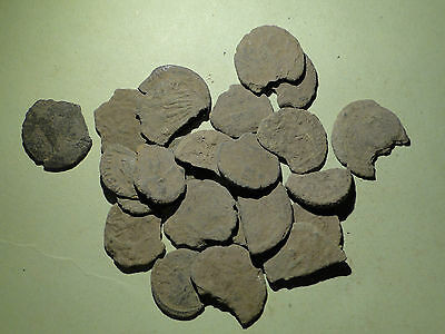 Job Lot of Lower Quality Roman Coins, requiring Cleaning and Research