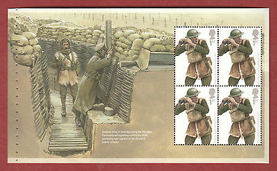 2015 DY13 The Great War prestige booklet pane 1, (DP481)
