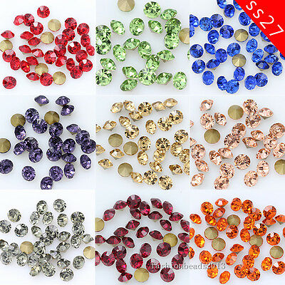 72/288p ss27 Pointed Back Crystal beads glass Rhinestone Nail Art jewelry repair