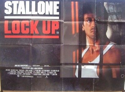 Sylvester Stallone  LOCK UP(1989) Original UK quad movie poster UK POST FREE