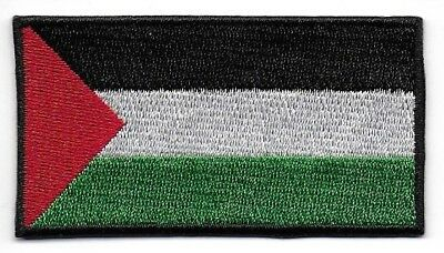 Embroidered Palestine Flag Iron on Sew on Patch Badge HIGH QUALITY APPLIQUE