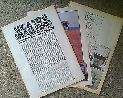 1982 YAMAHA XJ750. Magazine Road Test