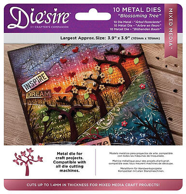 Crafters Companion - Die'sire Mixed Media - Blossoming Tree - 10 X Cutting Dies