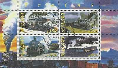 Timbres Trains Malawi o année 2010 lot 3850
