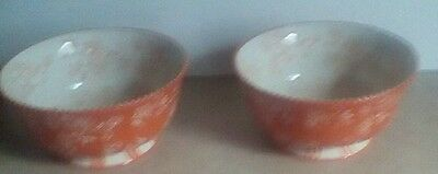 Two Temp-Tations Presentable Dinnerware By Tara Floral Lace Soup Cereal Bowls