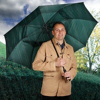 Green Vented Gust/Windproof Lightweight Golf/Golfing Push Button Umbrella