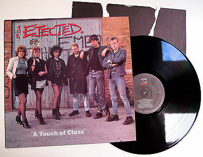 THE EJECTED - A TOUCH OF CLASS LP VINYL Rare UK 1982 Original + Inner Punk Oi