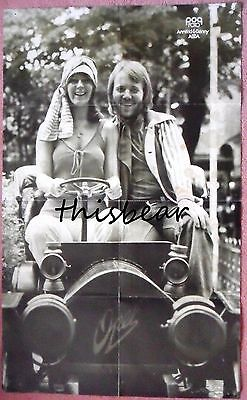 Annifrid & Benny from ABBA Large 1970's Poster with George Baker