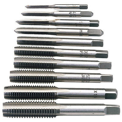 Draper 10 Piece Metric Hand Tap Set Thread Cutting & Cleaning 3mm-12mm 79200