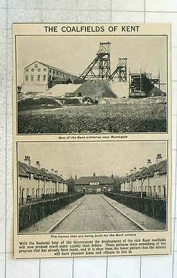 1923 The Coalfields Of Kent Near Ramsgate Pleasant Terraces And Gardens