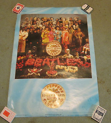 Beatles - Vintage (1987) Poster - Sgt. Pepper's Lonely Hearts Club Band - Sealed