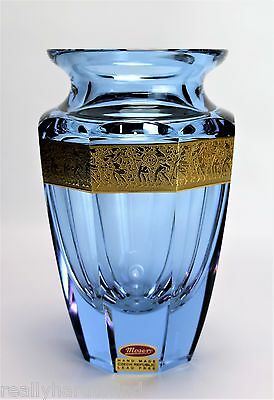 Moser Alexandrite Eternity Vase Very Nice Signed Gold Band
