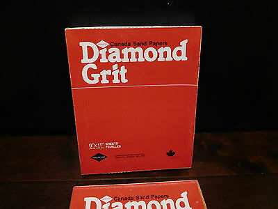 LOOK   80  Grit 9 x 11  Inch Diamond Grit  Sandpaper medium 50 Sheet Pack NOS