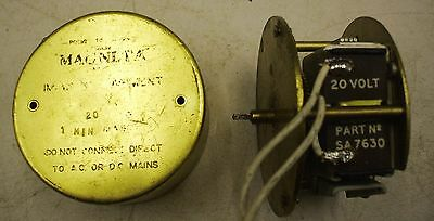 Magneta Slave Clock Impulse Movement For Spares Or Renovation